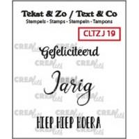 Clearstamp Tekst & Zo Jarig 19