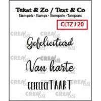 Clearstamp Tekst & Zo Jarig 20