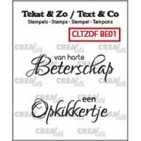 Clearstamp Tekst & Zo Beterschap 01