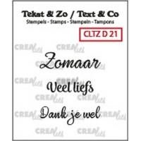 Clearstamp Tekst & Zo Divers 21