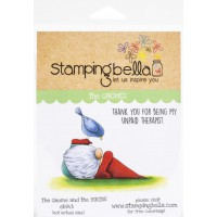 Clingstamp The Gnomes - The gnome and the birdie