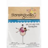 Clingstamp Uptown Girls - Wilma loves wine